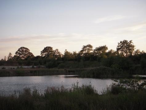 - Det Bornholmske Størvand tog sig lækkert ud i det begyndende aftenlys
