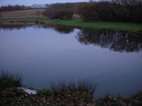 - En spejlblank søoverflade. November kan sgu være charmerende...